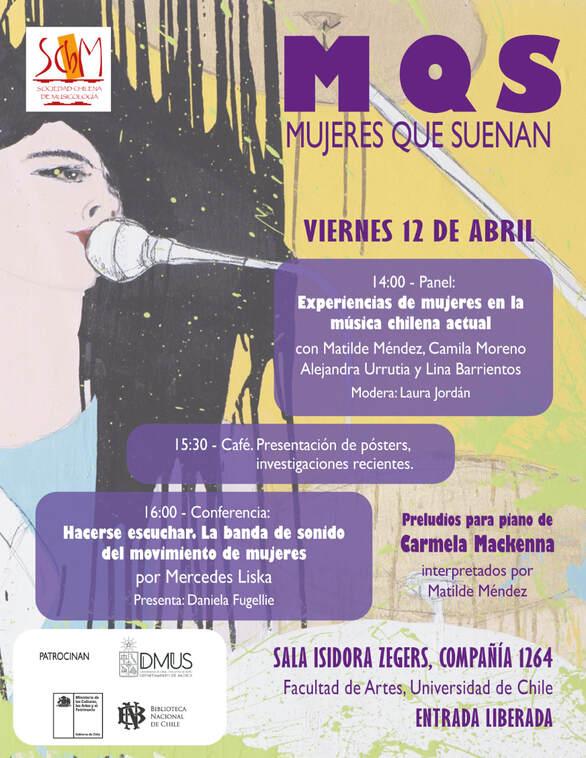 Depender de Acurrucarse Ahora  MUJERES QUE SUENAN - Sociedad Chilena de Musicología